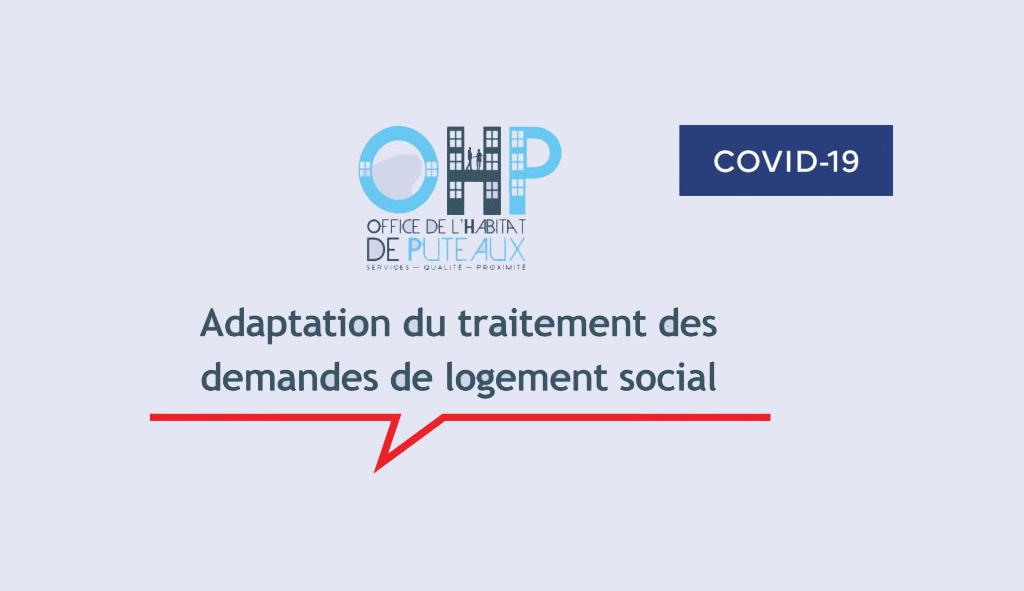 Coronavirus : Adaptation du traitement des demandes de logement social